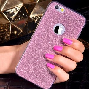 Accessories - Pink Glitter Soft iPhone Case Various Sizes